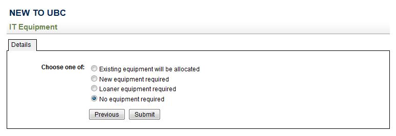 New to UBC - IT Equipment