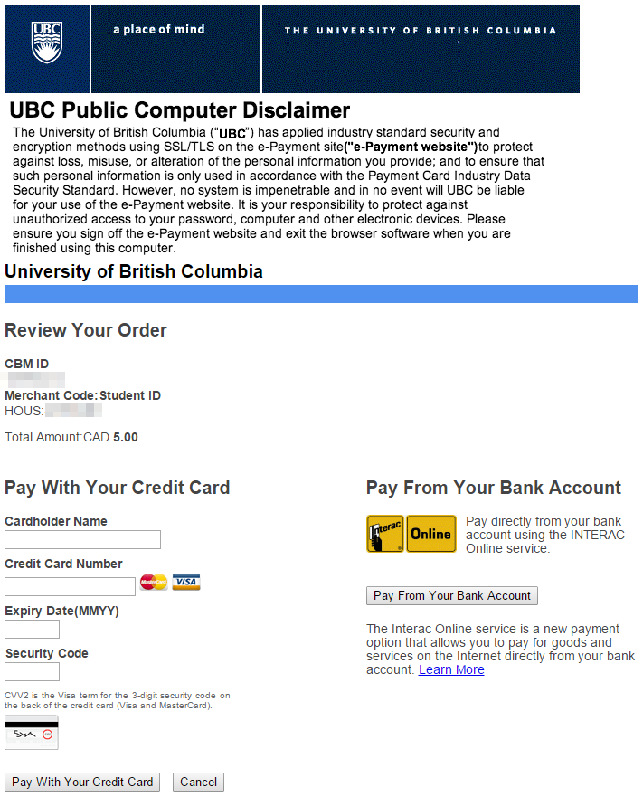 How Do I Add Money To My Student UBCcard?