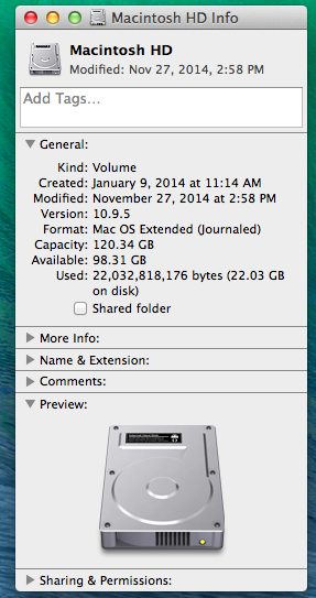 Clear Disk Space Mac >> How much space do I have left on my Hard-Drive? (MAC)