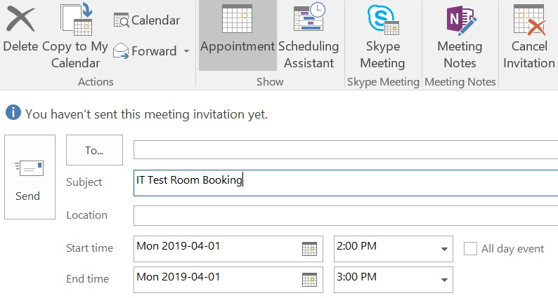 Meeting Subject and Time
