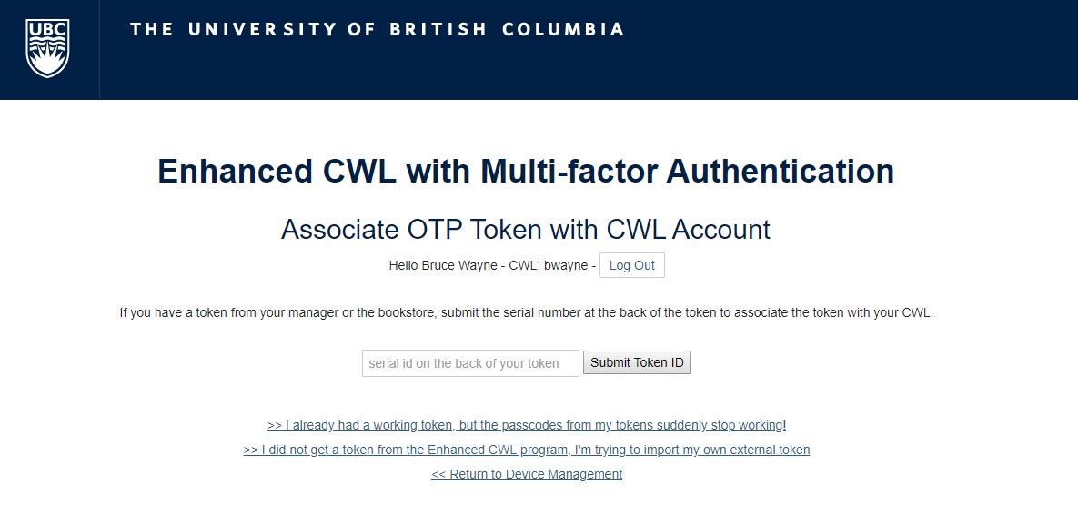 How to associate a Token with Enhanced CWL
